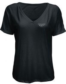 Fly Racing Crush Womens T-Shirt Black