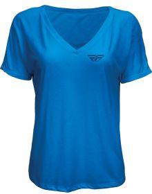 Fly Racing Crush Womens T-Shirt Royal Blue