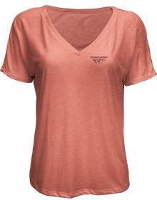 Fly Racing Crush Womens T-Shirt Mauve