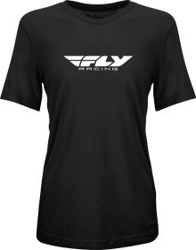 Fly Racing Origin Corporate Womens T-Shirt Dark Black