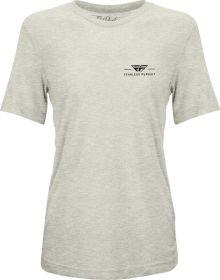 Fly Racing Motto Womens T-Shirt Cream