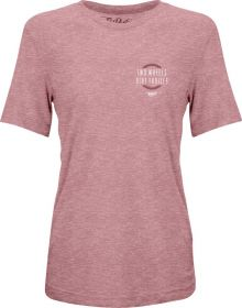 Fly Racing Two Wheels Womens T-Shirt Heather Mauve