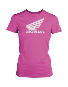Honda Big Wing Womens T-Shirt Pink