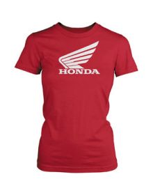 Honda Big Wing Womens T-Shirt Red
