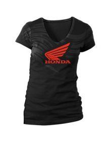 Honda Abstract Wings Womens T-Shirt Black