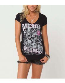 Metal Mulisha Freeway Womens T-shirt Black