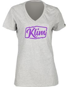 Klim 2019 Script Womens T-Shirt Gray