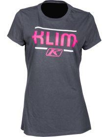 Klim Kute Corp Womens T-Shirt Charcoal/Knockout Pink