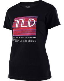Troy Lee Designs Electro Crew Womens T-shirt Black