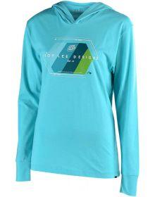 Troy Lee Designs Technical Fade Womens Pullover Sweatshirt Tahiti Blue