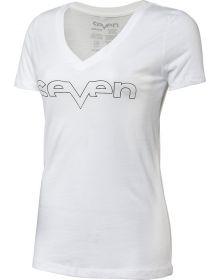 Seven Brand Foil Womens T-Shirt White