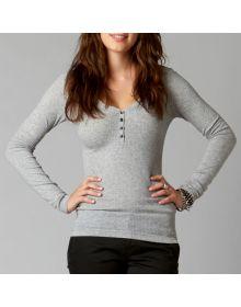 Fox Racing Fortune Womens Long Sleeve Shirt Heather Grey