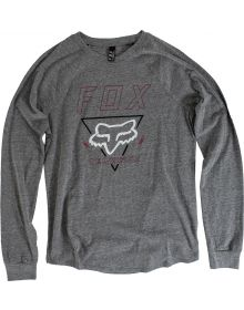 Fox Racing Consulted Womens Long Sleeve Shirt Heather Graphite