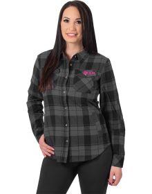 FXR Timber Plaid Womens Shirt Black/Grey