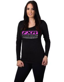 FXR Race Division Long Sleeve Womens Shirt Black/Electric Pink