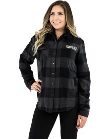 FXR Timber Insulated Flannel Womens Jacket Charcoal/Black