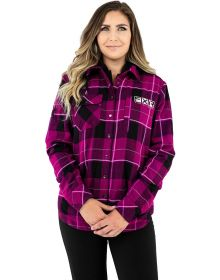 FXR Timber Insulated Flannel Womens Jacket Wineberry/Black