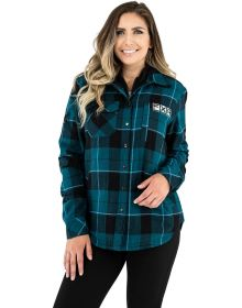 FXR Timber Insulated Flannel Womens Jacket Ocean/Black