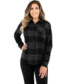 FXR Timber Flannel Womens Shirt Charcoal/Black