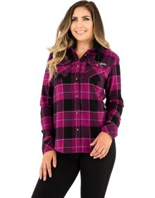 FXR Timber Flannel Womens Shirt Wineberry/Black