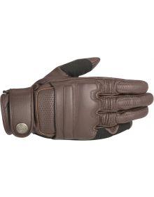 Alpinestars Oscar Robinson Leather Gloves Tobacco Brown