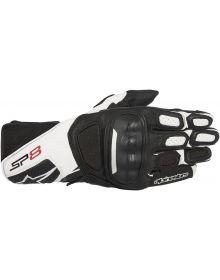 Alpinestars SP-8 V2 Leather Gloves Black/White