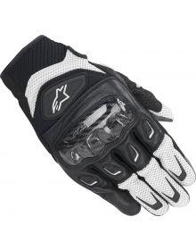 Alpinestars SMX-2 Air Carbon V2 Leather Gloves Black/White