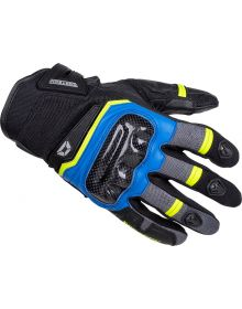 Cortech Sonic-Flo Air Gloves Blue/HI-Viz