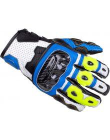 Cortech Apex V1 ST Gloves Blue/Hi-Viz