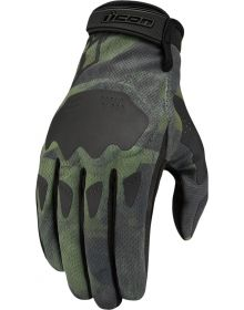 Icon Hooligan Gloves Battlescar Green