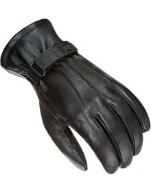 Power Trip Jet Black Lined Touch Screen Glove Black