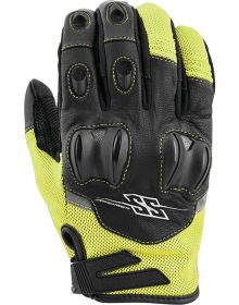 Speed and Strength Power and the Glory Leather-Mesh Gloves Hi-Vis