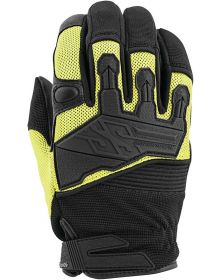 Speed and Strength Hammer Down Leather-Mesh Gloves Hi-Visibility