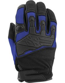 Speed and Strength Hammer Down Leather-Mesh Gloves Blue