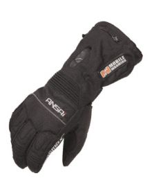 Mobile Warming Battery Heated Womens Carbolex Gloves Black