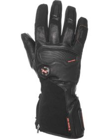 Mobile Warming Barra Leather/Textile Heated Gloves 7.4v Black
