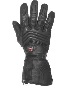 Mobile Warming Blizzard Leather Heated Gloves 7.4v Black