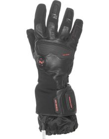 Mobile Warming Barra Leather/Textile Heated Gloves 12v Black