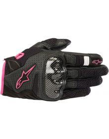 Alpinestars SMX-1 Air V2 Womens Gloves Black/Fuchsia