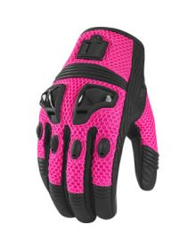 Icon Justice Mesh Womens Gloves Pink