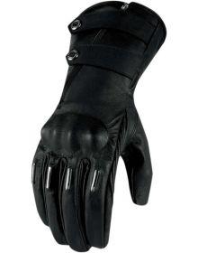 Icon 1000 Hella Kangaroo Long Womens Gloves Black