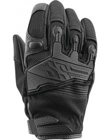 Speed and Strength Backlash Womens Leather-Mesh Gloves Black