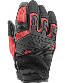 Speed and Strength Backlash Womens Leather-Mesh Gloves Red