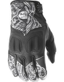 Highway 21 Vixen Womens Gloves Black/White