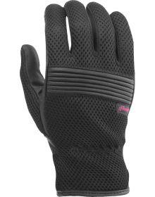 Highway 21 Adrift Mesh Womens Gloves Touch Screen Black