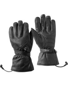 Gerbing GT4 12V Leather Heated Womens Gloves Black