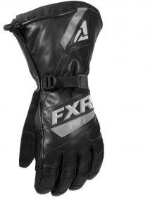 FXR Leather Gauntlet Glove Black