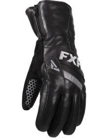 FXR Leather Short Cuff Glove Black