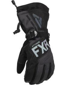 FXR Attack Lite Gauntlet Glove Black/Charcoal