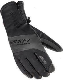 Rocket Snow Gear Snowcross Snowmobile Glove Black/Gray